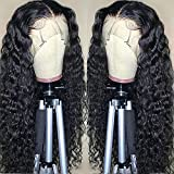 ISEE Hair Lace Front Wigs Human Hair Deep...