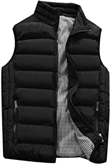 Sunhusing Winter Men Multi-Color Leisure Warm Gilet Vest Male Pure Color Padded Cotton Waistcoat Warm Down Outwear