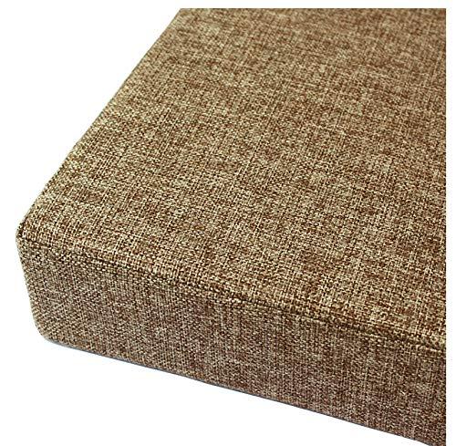 bandezid Cojín para sofá con Cremallera y Tejido Largo Cojines para Silla para Dormitorio Interior al Aire Libre 8cm Espesar Esponja Acolchada Cojín De Banco-Marrón 150x30x8cm(59x12x3.2in)