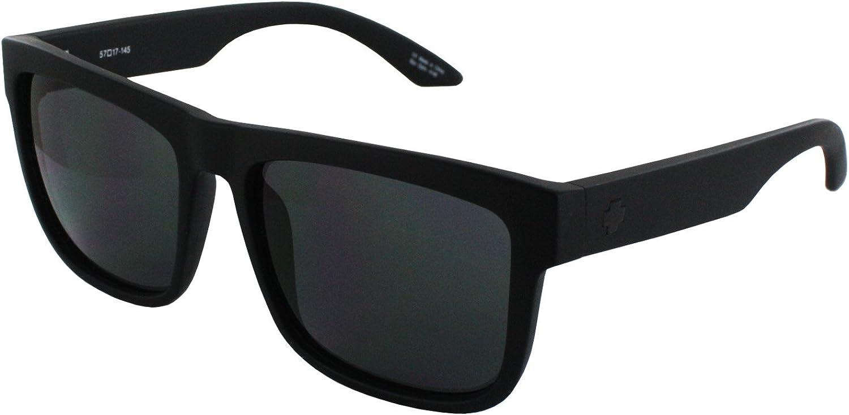 Spy Discord Sunglasses Soft Matte Black With HD Plus Grey Green Lens