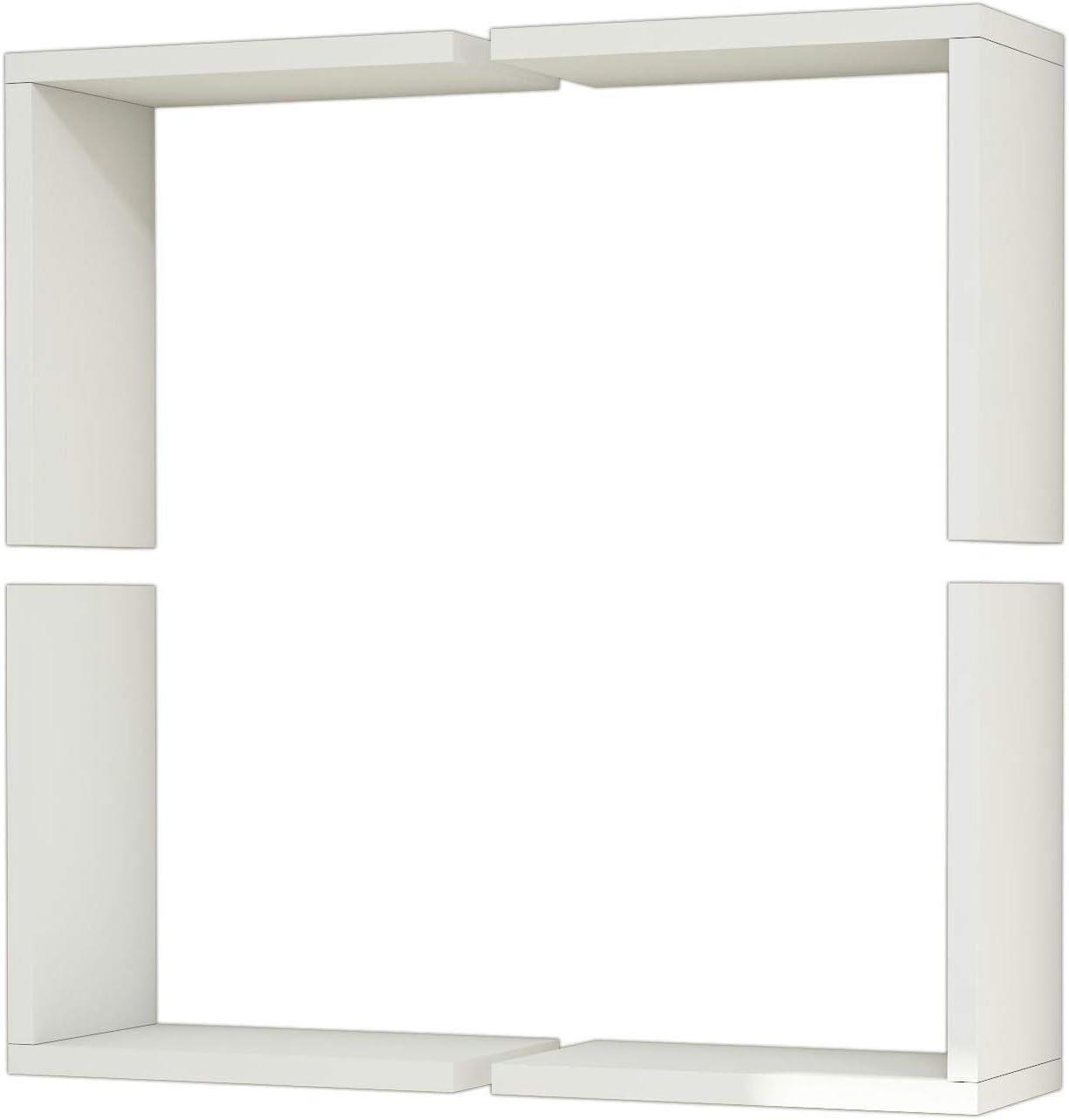 Bonamaison Wall Shelf White Furniture Room Living Alternative dealer OFFicial mail order for Bedroom