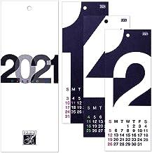 HANABUSA(はなぶさ) 2021 小型壁掛けカレンダー A(数字フォルム) モノトーン