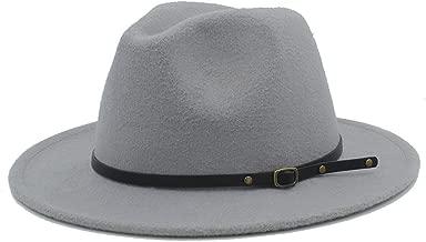 Wool Women Felt Gangster Hat with Wide Brim Jazz Church Godfather Cap 56-58Cm
