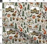 Hirsch, Wald, Winter, Schnee, Weihnachten, Fuchs, Waldtiere