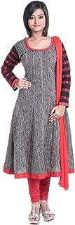 Cynthia's Fashion, CFK292_COT_AK_SS_DP, Cotton Printed, Bias Cut Anarkali Salwar Suit with Cotton Churidar or Churi Leggings Set