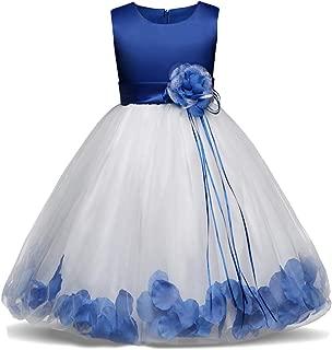 Girl Tutu Flower Petals Bow Bridal Dress for Toddler Girl