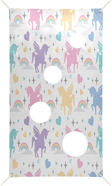 Nander Fun Toss Game Flag OFFer Fla Stars Unicorns In stock Heart Rainbows