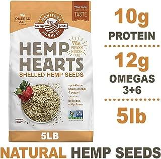Manitoba Harvest Hemp Hearts Raw Shelled Hemp Seeds, 5lb; with 10g Protein & 12g Omegas per Serving, Non-GMO, Gluten Free