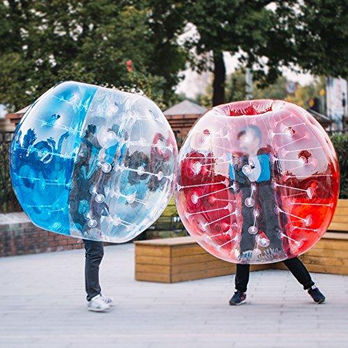 BuoQua 1,5M Bubble Ball Fußball Bubble Soccer für Erwachsene Kinder PVC Zorb Soccer Transparent (2 Stück)