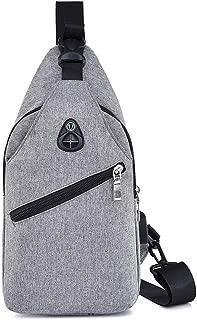 Mens Bag Fashian Men's 3 Color Canvas Chest Multi-function Personal Anti-theft Handbag Shoulder Bag High capacity