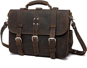 LBYMYB Men's Briefcase Retro Casual Business Men's Shoulder Messenger Bag Men's Bag, Brown, 42x30x23cm Business Briefcase