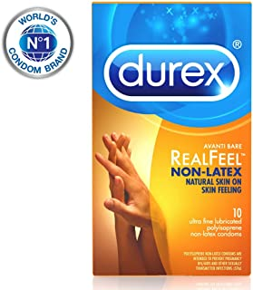 Condoms, Non-Latex Durex Avanti Bare RealFeel Condom, 10 ct HSA Eligible