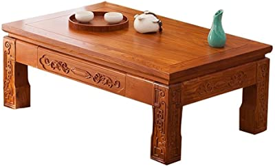 Living Room Coffee Table Solid Wood Low Table Laptop Table Study Table Tea Table (Color : A, Size : 50x40x30cm)