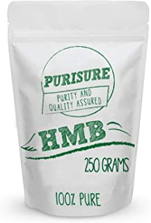 HMB Powder 250g (250 Servings), Prevents Muscle Breakdown, Preserves Muscle Mass, Essential for Athletes Operating at a Ca...