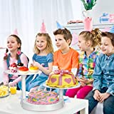 Uten Tortenständer Etagere Kuchenständer, 3 stöckig Tortenplatte Hochzeitstorte Deko Gestell für Geburtstag, Hochzeit und Party - 8
