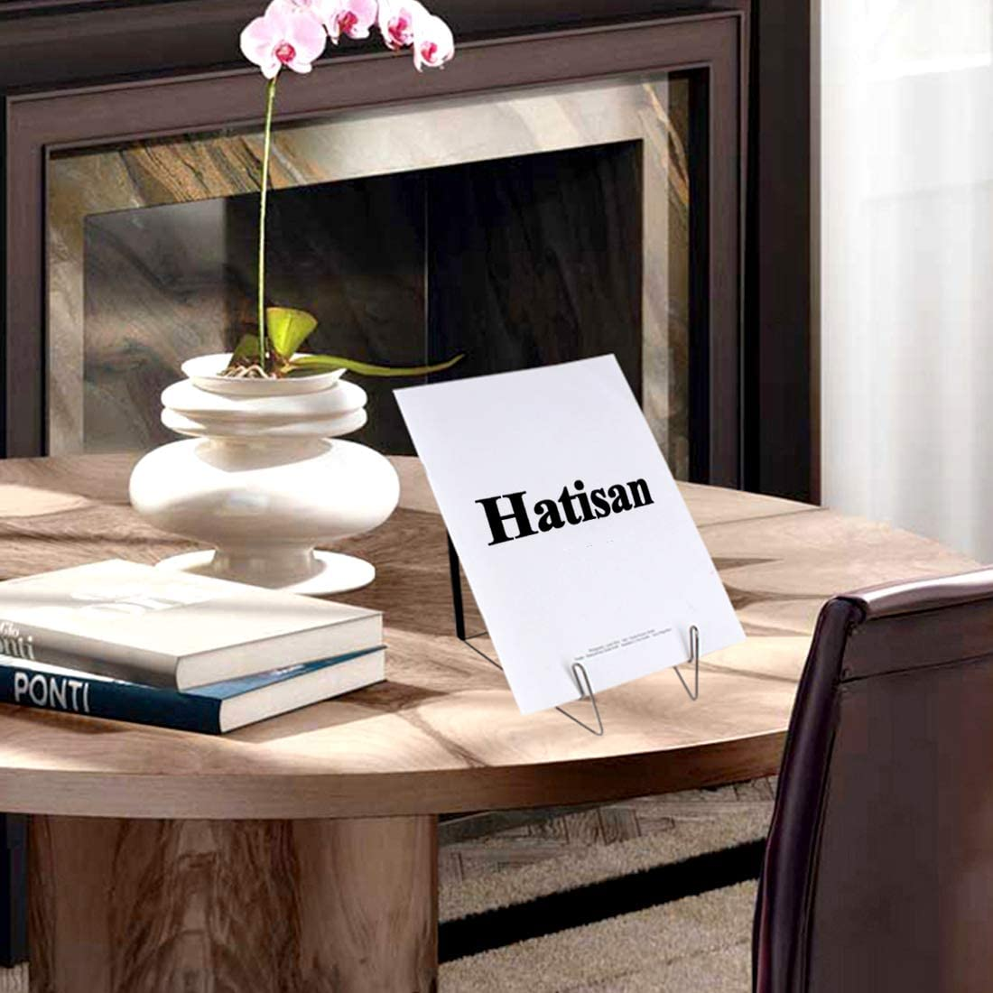 4 Libreria in Metallo Fold-n-Stow Leggio Supporto per Espositore Cavalletto Libri Musicalie con cavalletto Piccolo Libro Resto per Controsoffitti della Cucina hatisan Regolabile Stand di Libri