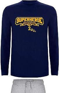 Pijama para Hombre superheroe Modo Ahorra energia Invierno Muy Comodo Ropa Dormir de Algodon