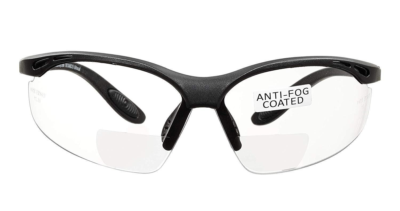voltX 'CONSTRUCTOR' (TRANSPARENTE dioptría +3.5) Gafas de Seguridad de Lectura BIFOCALES que cumplen con la certificación CE EN166F / Gafas para Ciclismo incluye cuerda de seguridad