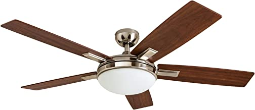 Prominence Home 51023 Emporia Contemporary Ceiling Fan with Remote, 52