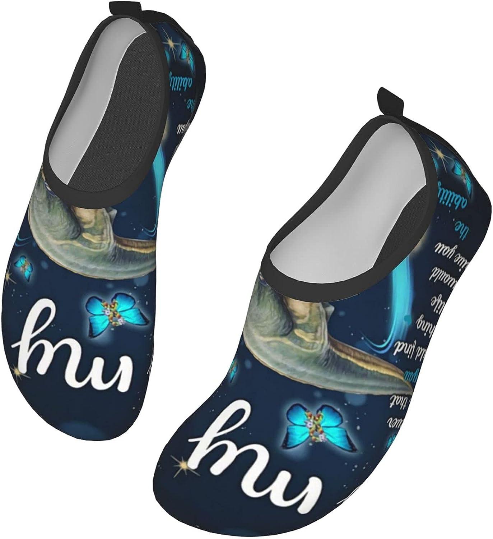 NAHOMER to My Son Dinosaur Water Shoes for Mens Womens Aqua Socks Quick-Dry Barefoot Yoga Socks for Beach Swim Surfs Exercise