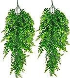 ASHINER Plantas Artificiales Decorativas Colgantes Hiedra Verde Artificial Colgante...
