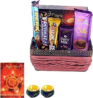 Astonished Retail Creamy Dairy Milk Silk Chocolate , Dark Fantasy with Designer Basket Gift | Premium Diwali Chocolate Ham...