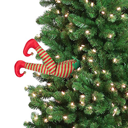 Mr. Christmas 30462 Indoor Animated Christmas Kickers 16' - Elf Holiday Decoration, inch, Red