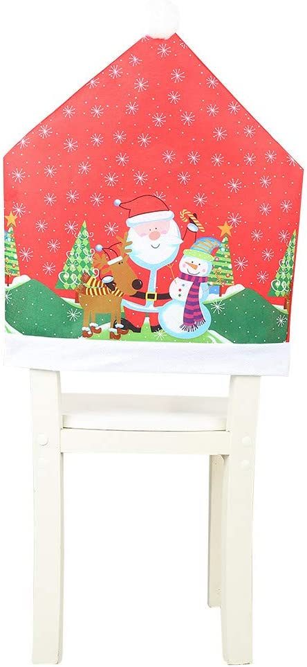 Cheap Tampa Mall SALE Start Christmas Chair Covers Decor Slipcovers Non-Woven Dining