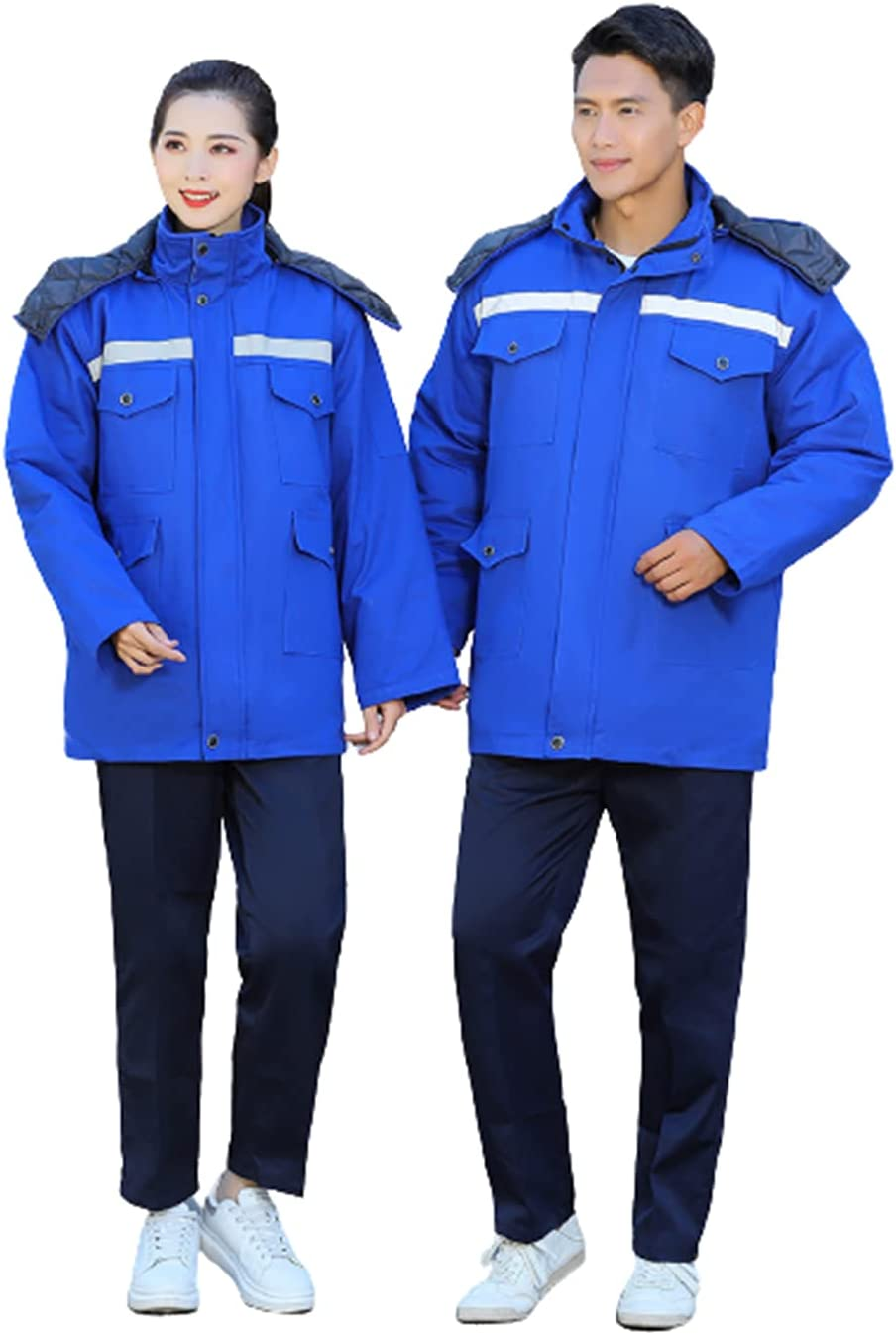 Winter Warm Jacket Long Sleeve Plus Size Work Clothing with Detachable Lining for Car Repair Workshop