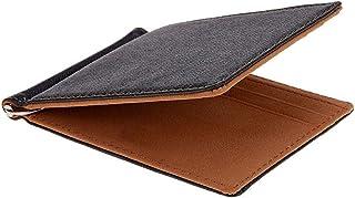 ZHJshatezi الرجال المحفظة قصيرة محافظ الجلد المحافظ جلد المال مقاطع سوليد محفظة رقيقة للرجال (Color : Brown)