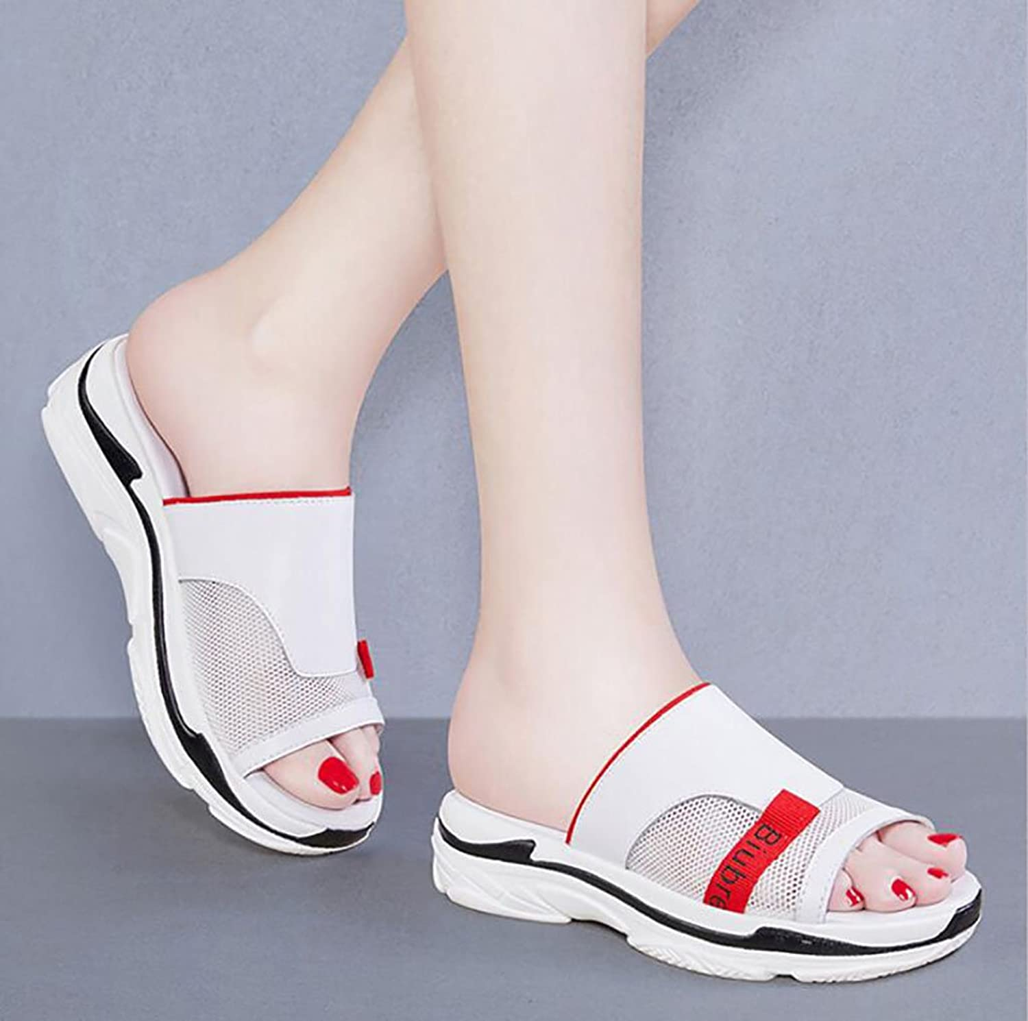 Slipper Ladies Fashion wear with Summer Sandals and Slippers Wild Korean Version of The Sandals Flat Sandals,Fashion Sandals (color   B, Size   34)