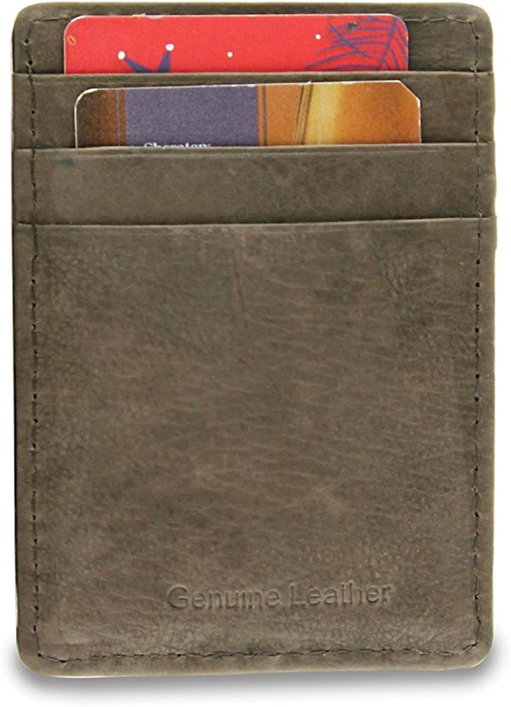 Solid Brown Leather Card Raleigh Mall Case Business Credit Slim Holder Max 68% OFF M