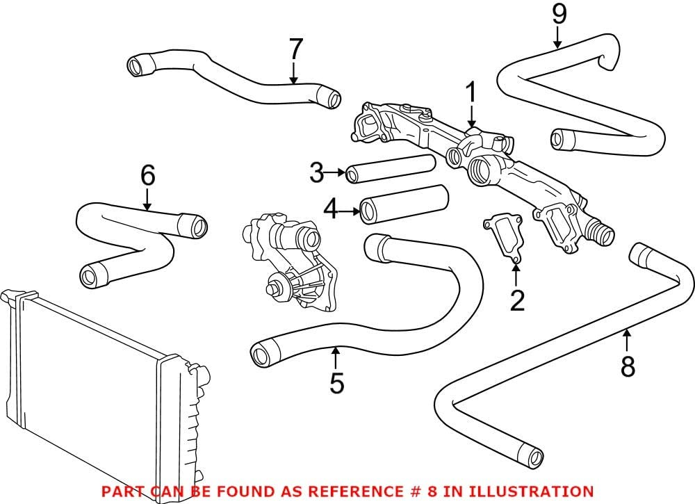 Genuine OEM Engine Coolant famous Bypass Pipe Inlet HVAC Fo Heater Shipping included Hose