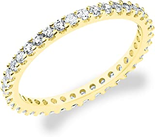 14K Gold .50 CTTW Eternity Stackable Diamond Anniversary Ring