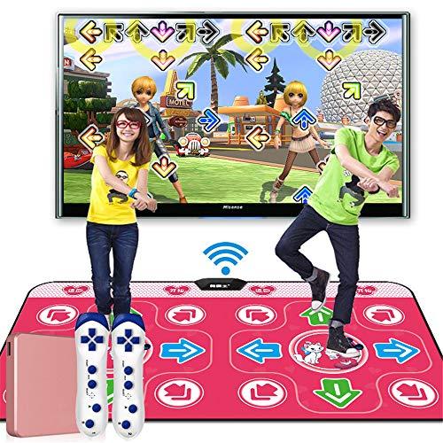 TV-Tanz-Matten Tanzschritt-Pad, Massage Tanzmatte Mit 2 Stück Drahtlose Griffe, Spielzeug Tanzen Challenge-Rhythm & Beat Playmat,A