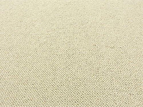 HEVO® Berber Naturfaser Kollektion - Afrika Berber Teppichboden in 3 Farben - Inkl. 2% Bestellgutschein - 86 Wollweiß