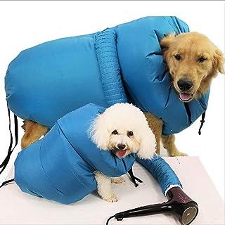 犬 猫ペット乾燥箱 ペット用お風呂上がりバッグ迅速乾燥 通気 折りたたみ式 清潔便利 ドライヤー入口あり ペット用 毛の飛び散り防止ドライヤー付かない