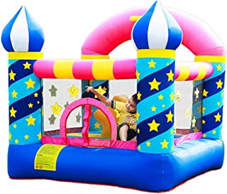 Inflatable Castle Indoor Inflatable Trampoline Kids Toys Outdoor Children's Playground Safe Children's Playroom Bounce House for Kids (Color : Blue, Size : 225x220x215cm)