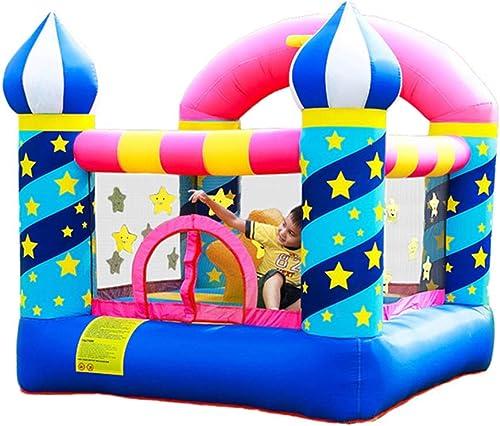 Hüpfburg Aufblasbares Schloss Aufblasbares Trampolin Für Innen Kinderspielzeug Kinderspielplatz Im Freien Sicheres Kinderspielzimmer Schlaghaus Für Kinder (Farbe   Blau, Größe   225x220x215cm)