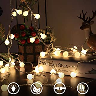 MOICO String Lights, 33FT 100 LED Connectable Waterproof Fairy Lights with 8 Modes, Decorative Plug in String Lights for Indoor, Bedroom, Patio, Christmas and More - UL Listed 29V, Warm White