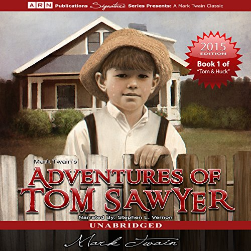 Couverture de Adventures of Tom Sawyer: Tom Sawyer & Huckleberry Finn Series, Book 1