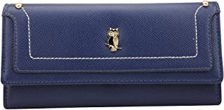 Wiwsi Women pu Leather Clutch Wallet Card Holder Purse Handbag Night Owl Pattern
