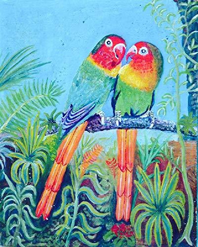 Puzzle Clásico De Madera Adulto 1000 Piezas Pintura Al Óleo De Loro De Color.Foto De Cartel, Decoración Del Hogar.