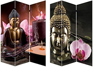 Biombo Separdor de Ambientes, Mod. Buda. para Salon/Comedor. Bastidores de Madera. 180x120 cm.
