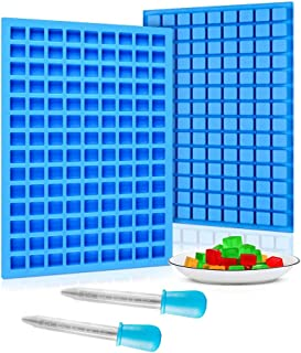 2Pack Square Silicone Candy Molds - 126 Cavity Mini Silicone Molds for Hard Candy, Chocolate, Gummy, Jelly, Truffles Prali...