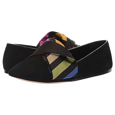 Etro Bow Flat (Black) Women