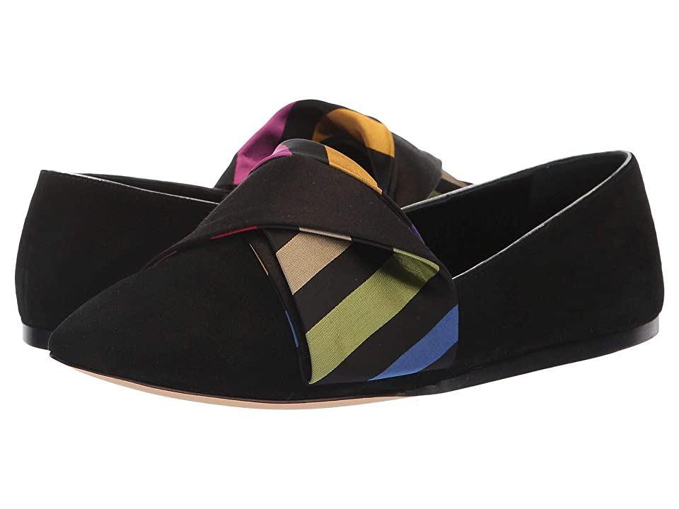 Etro Bow Flat (Black) Women