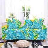 WXQY Funda de sofá con Estampado de mármol Funda de sofá elástica Funda Protectora de Muebles Funda de sofá Envuelta herméticamente A1 4 plazas