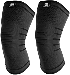 Fit Active Sports Flex Compression Knee Sleeves Brace for...