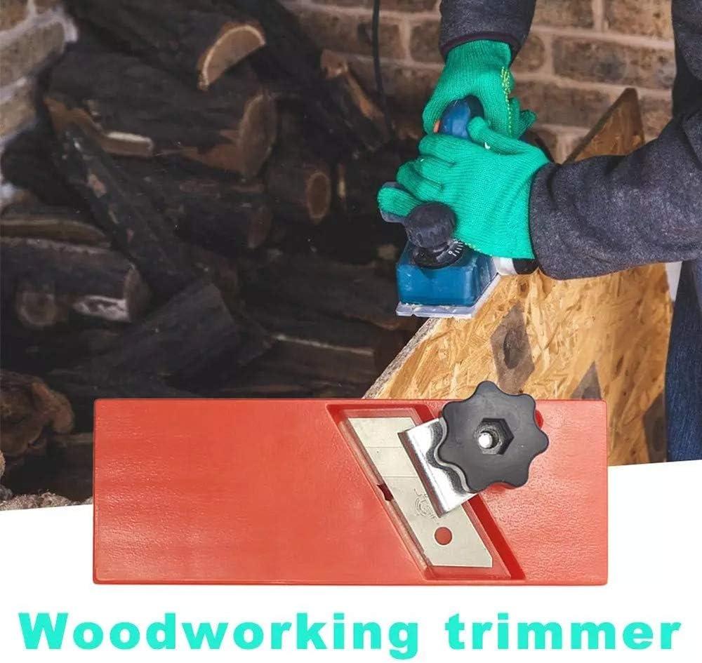 plano de biselado ajustable lefeindgdi Plano de esquina de bordes de carpinter/ía plano de recorte de madera para carpinter/ía cepillado manual de biselado duradero de 45 grados